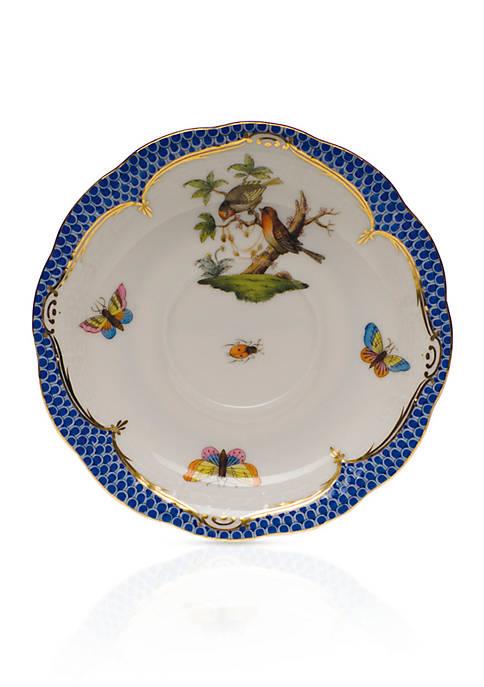 Rothschild Bird Blue Border Tea Saucer - Motif #10