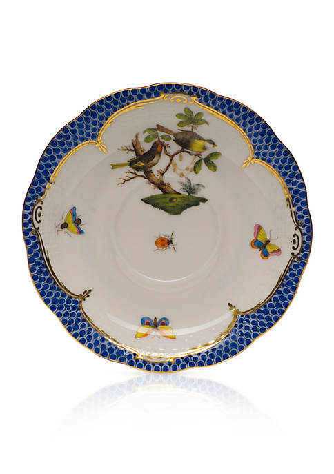 Rothschild Bird Blue Border Tea Saucer - Motif #11