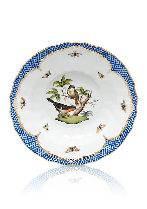 Blue Border Rim Soup Bowl - Motif #3
