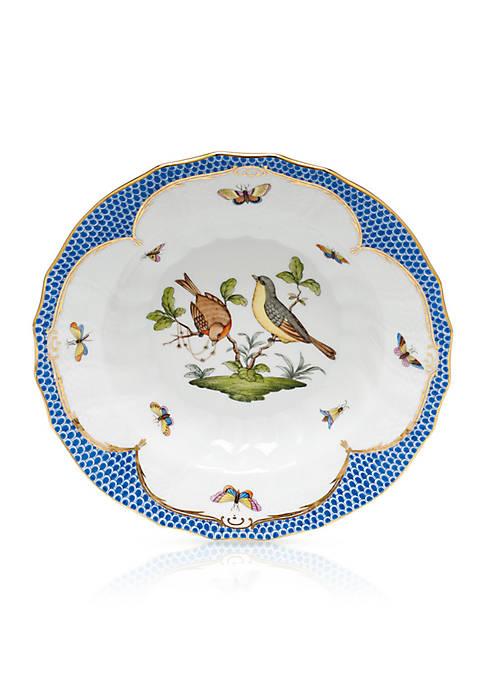 Blue Border Rim Soup Bowl - Motif #7