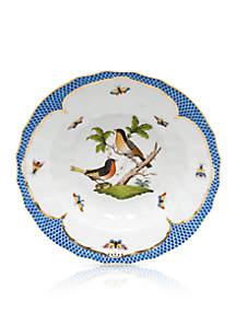 Blue Border Rim Soup Bowl - Motif #8