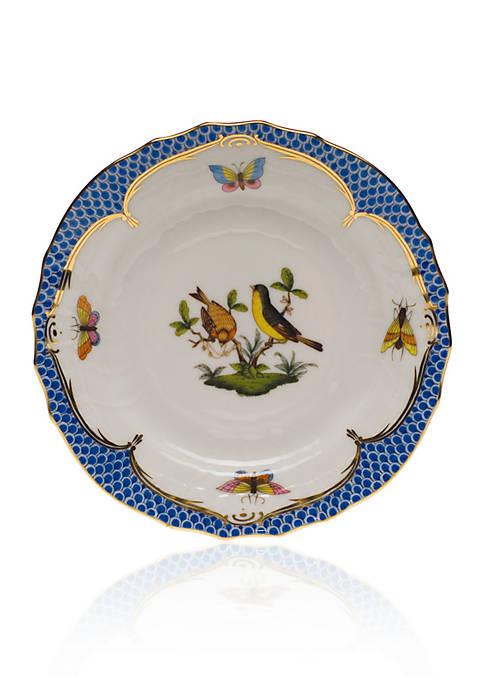 Rothschild Bird Blue Border Bread & Butter Plate - Motif #7