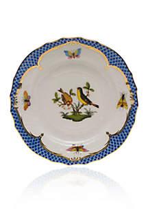 Herend Rothschild Bird Blue Border Bread & Butter Plate - Motif #7