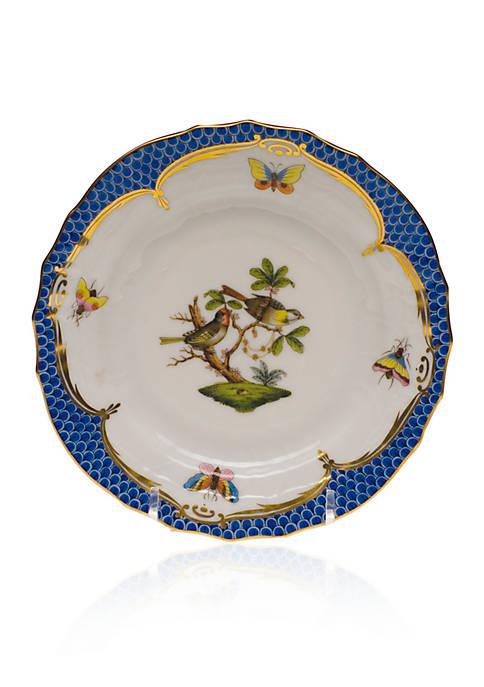 Rothschild Bird Blue Border Bread & Butter Plate - Motif #11