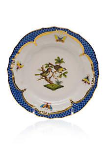 Herend Rothschild Bird Blue Border Bread & Butter Plate - Motif #11