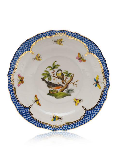 Blue Border Salad Plate - Motif #2
