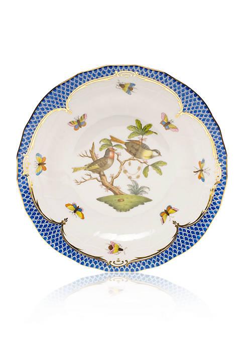 Blue Border Dessert Plate - Motif #11