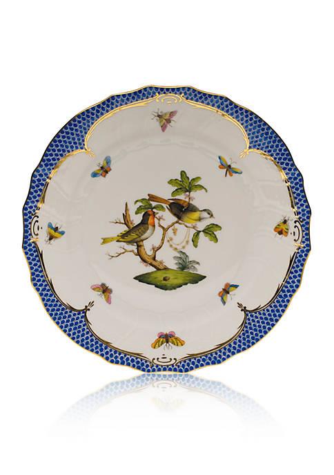 Blue Border Dinner Plate - Motif #11