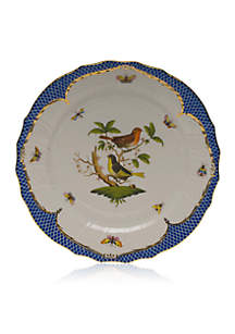 Rothschild Bird Blue Border Service Plate - Motif #3