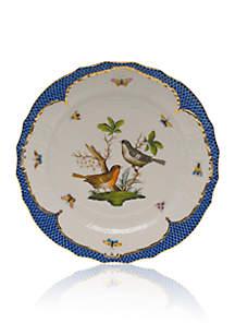 Blue Border Service Plate - Motif #5