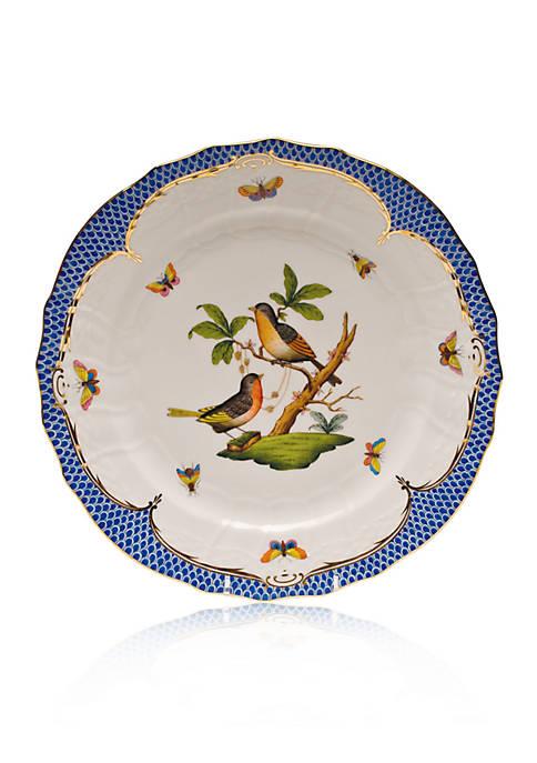 Rothschild Bird Blue Border Service Plate - Motif #8