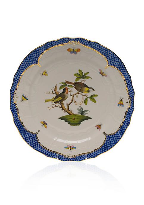 Herend Rothschild Bird Blue Border Service Plate
