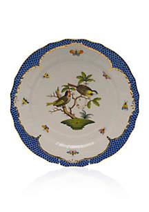 Rothschild Bird Blue Border Service Plate - Motif #11