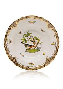 Rothschild Bird Brown Border Rim Soup Bowl - Motif #2