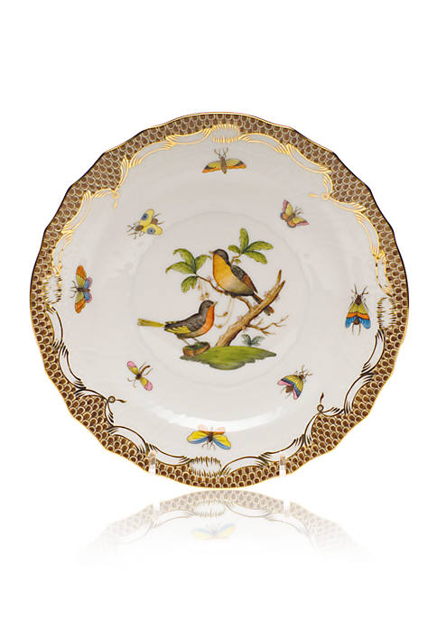 Brown Border Salad Plate - Motif #8