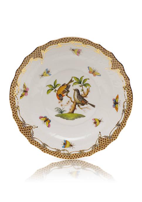 Herend Brown Border Salad Plate