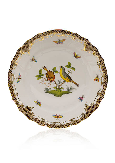 Herend Brown Border Dinner Plate