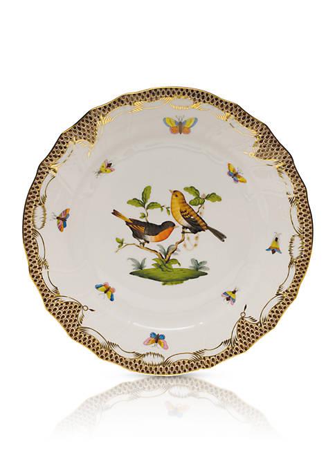 Brown Border Dinner Plate - Motif #9