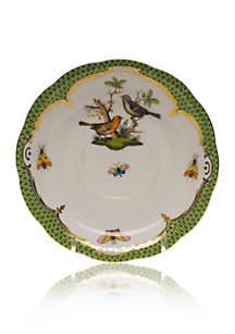 Rothschild Bird Green Border Tea Saucer - Motif #5