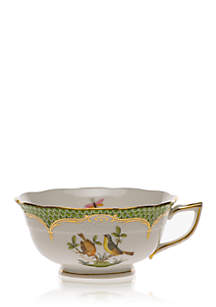 Rothschild Bird Green Border Tea Cup - Motif #7
