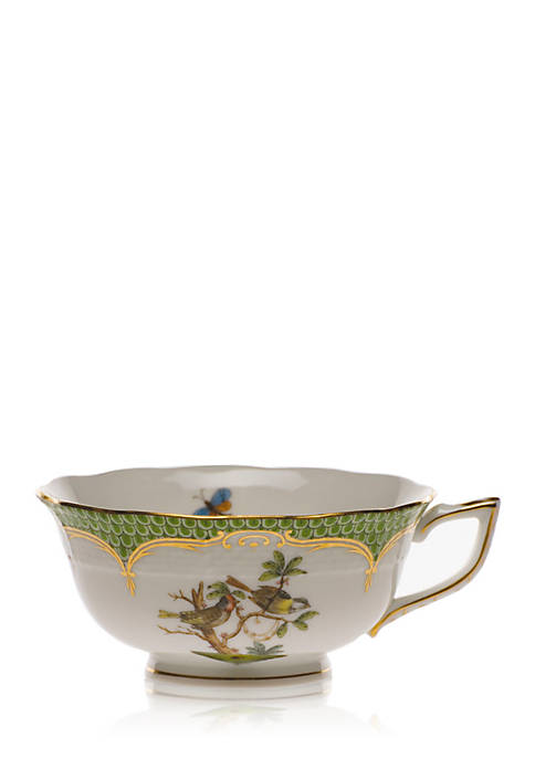 Herend Rothschild Bird Green Border Tea Cup
