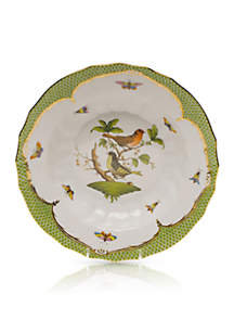 Rothschild Bird Green Border Rim Soup Bowl - Motif #3