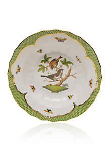 Rothschild Bird Green Border Rim Soup Bowl - Motif #4