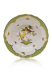 Rothschild Bird Green Border Rim Soup Bowl - Motif #6