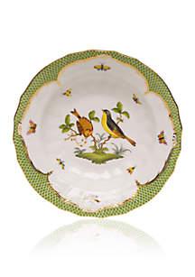 Rothschild Bird Green Border Rim Soup Bowl - Motif #7