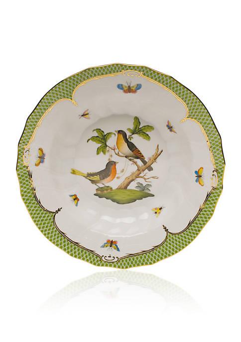 Herend Rothschild Bird Green Border Rim Soup Bowl