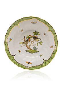 Rothschild Bird Green Border Rim Soup Bowl - Motif #11