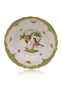 Rothschild Bird Green Border Rim Soup Bowl - Motif #12