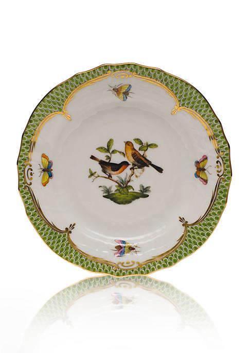 Rothschild Bird Green Border Bread & Butter Plate- Motif #9