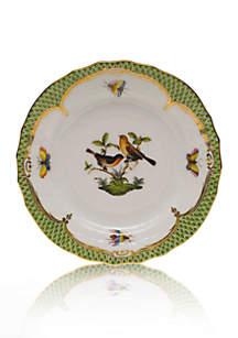 Herend Rothschild Bird Green Border Bread & Butter Plate- Motif #9