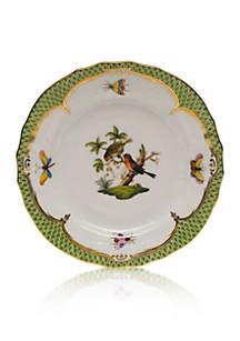 Rothschild Bird Green Border Bread & Butter Plate- Motif #10