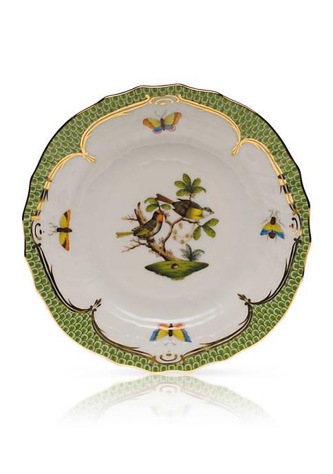 Rothschild Bird Green Border Bread & Butter Plate- Motif #11