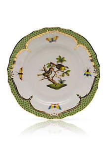 Herend Rothschild Bird Green Border Bread & Butter Plate- Motif #11