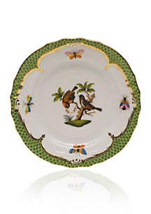 Rothschild Bird Green Border Bread & Butter Plate- Motif #12