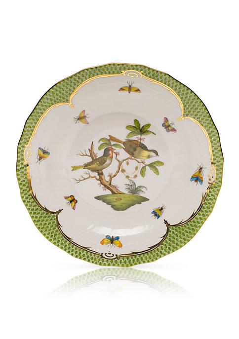 Herend Rothschild Bird Green Border Dessert Plate
