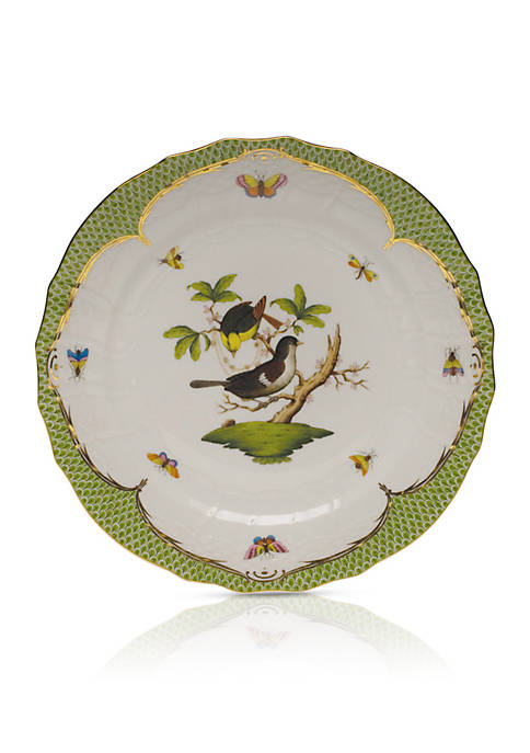 Rothschild Bird Green Border Service Plate - Motif #1