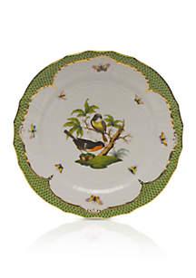 Rothschild Bird Green Border Service Plate - Motif #2