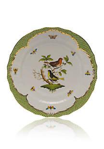 Rothschild Bird Green Border Service Plate - Motif #3