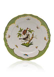 Rothschild Bird Green Border Service Plate - Motif #4
