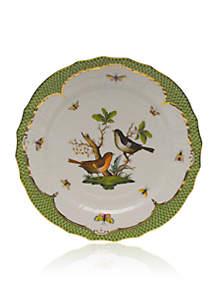 Rothschild Bird Green Border Service Plate - Motif #5