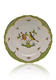Rothschild Bird Green Border Service Plate - Motif #7