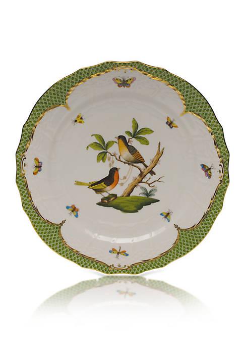 Herend Rothschild Bird Green Border Service Plate