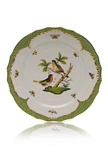 Rothschild Bird Green Border Service Plate - Motif #8