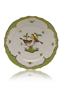 Rothschild Bird Green Border Service Plate - Motif #9