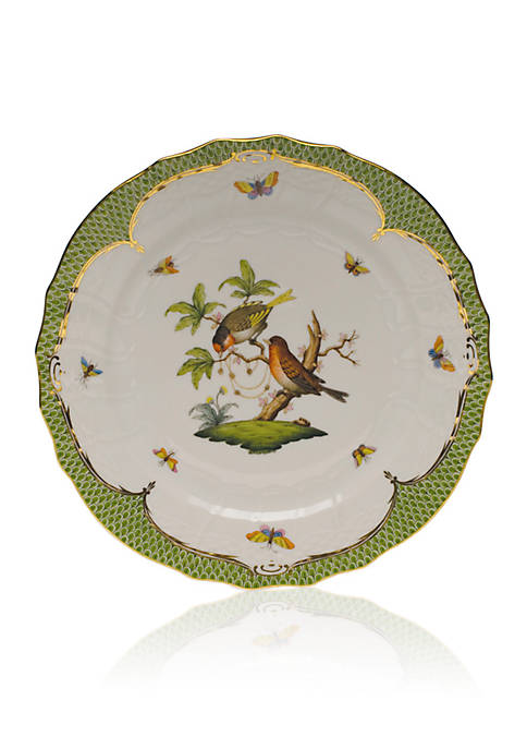 Herend Rothschild Bird Green Border Service Plate