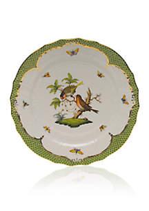 Rothschild Bird Green Border Service Plate - Motif #10